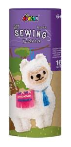 Childrens DIY sewing kit - Llama keyring