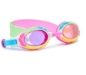 Girls fun multicoloured shaved rhinstone swimming goggles with multicoloured strap