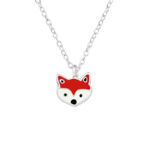 Girls Fox 925 Sterling Silver Necklace