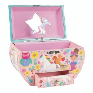 Rainbow Fairy Oval Musical Jewellery Box
