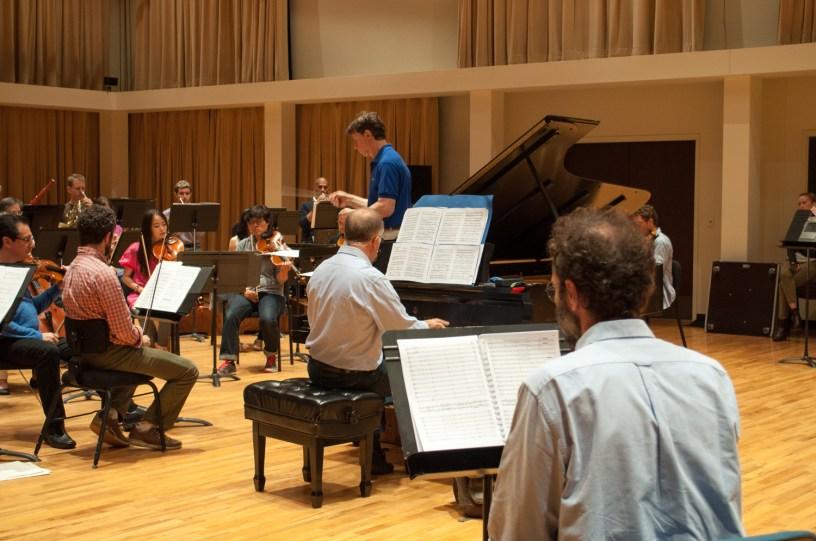 Nicola Campogrande at rehearsal