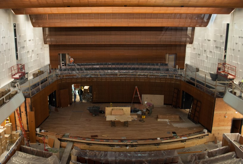 Concert Hall stage construction, Dec. 19, 2014