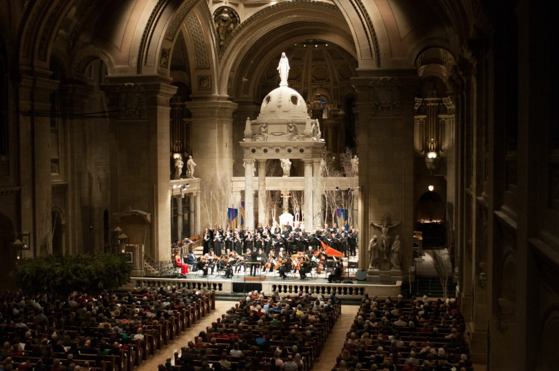 The SPCO performs Handel's Messiah at the Basilica of Saint Mary.
