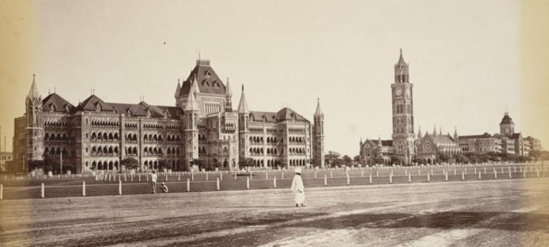 Black and White Photo of Bombay High Court