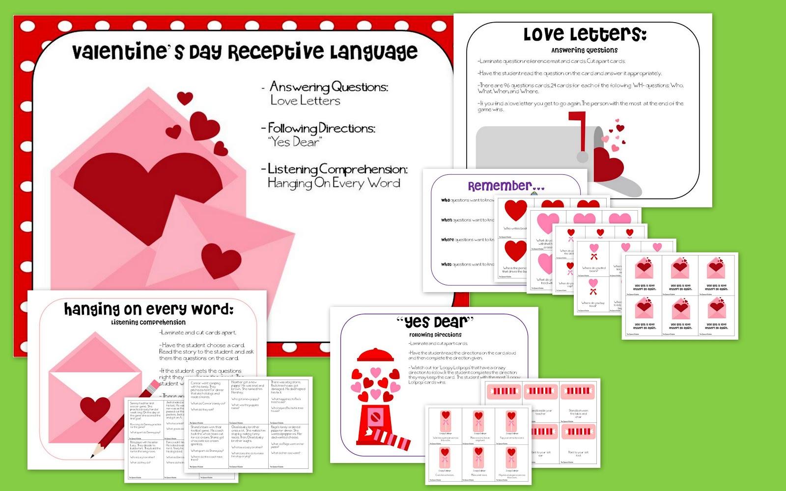 Valentine S Day Receptive Language
