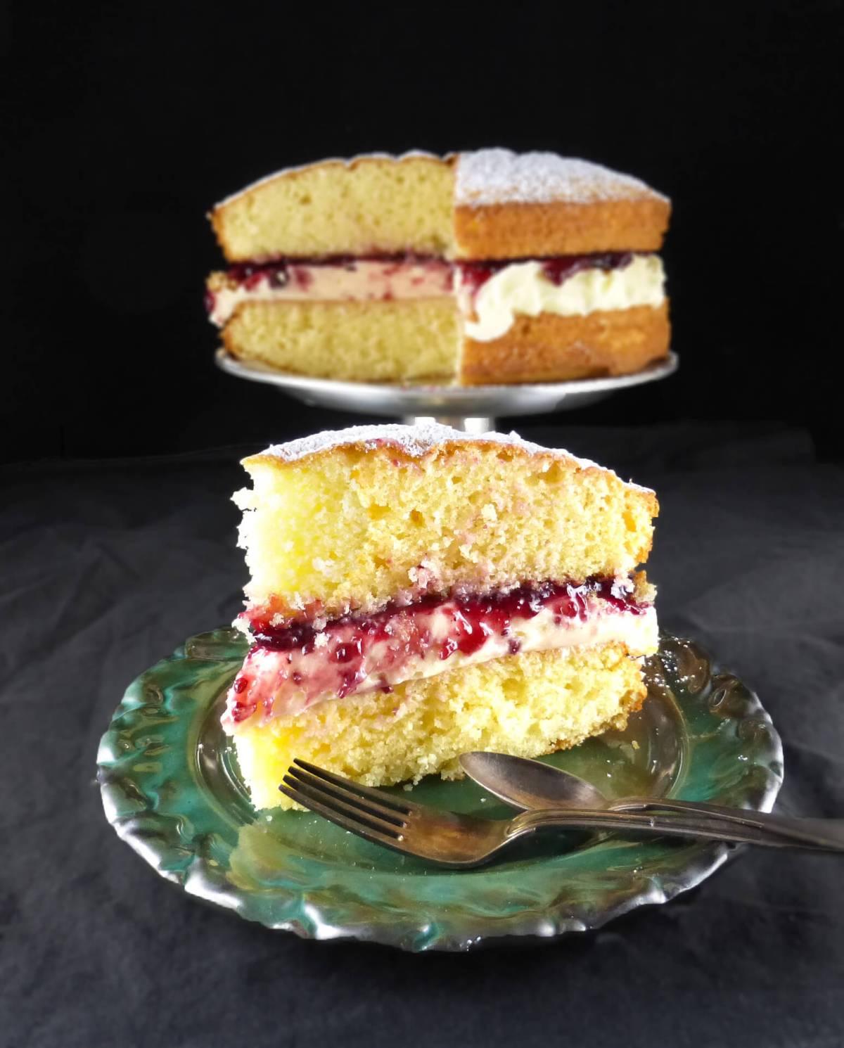 Spelt Victoria Sandwich Cake (with buttercream icing)