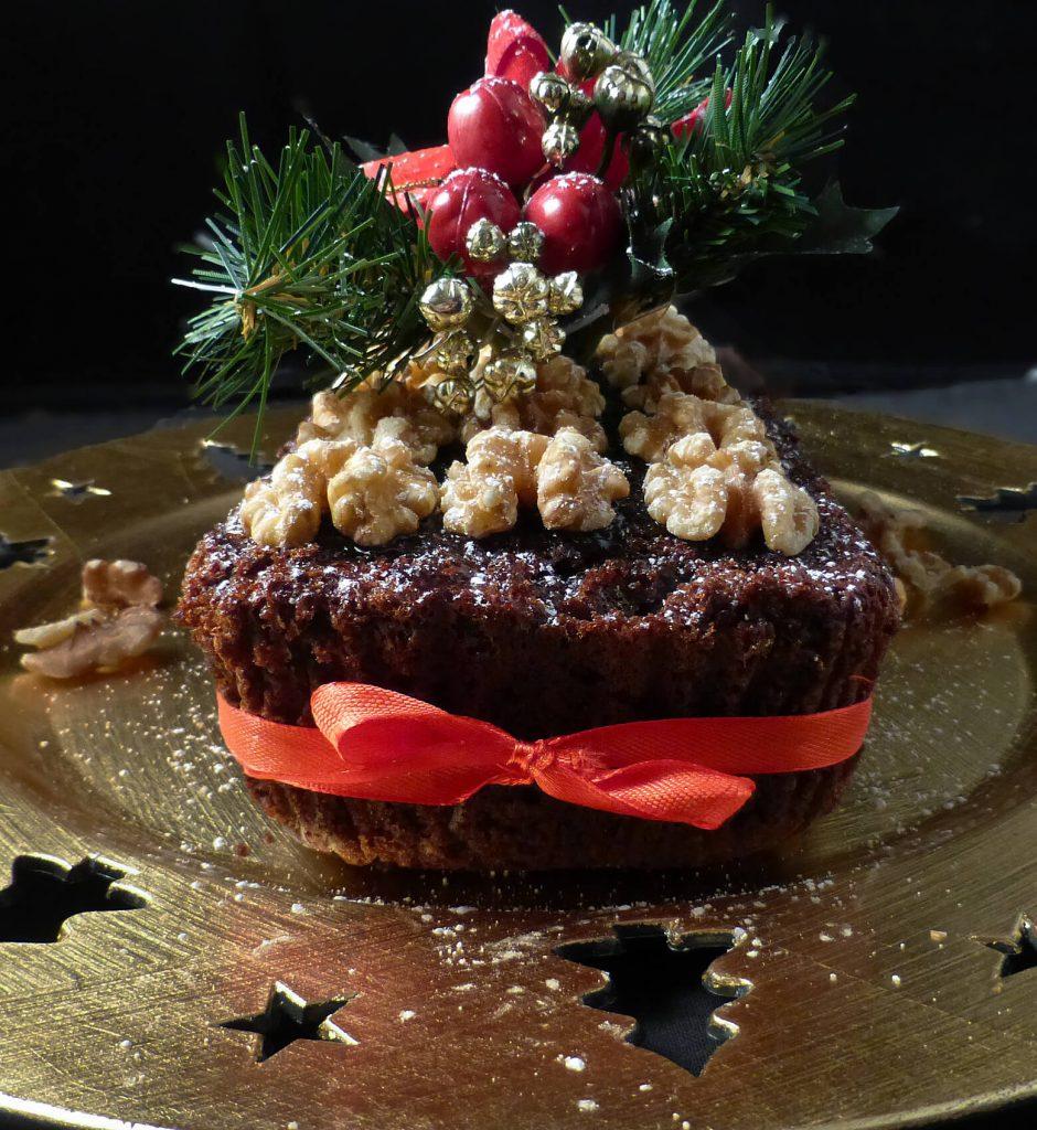 Simple Last Minute Christmas Fruit Cake (spelt or regular flour)