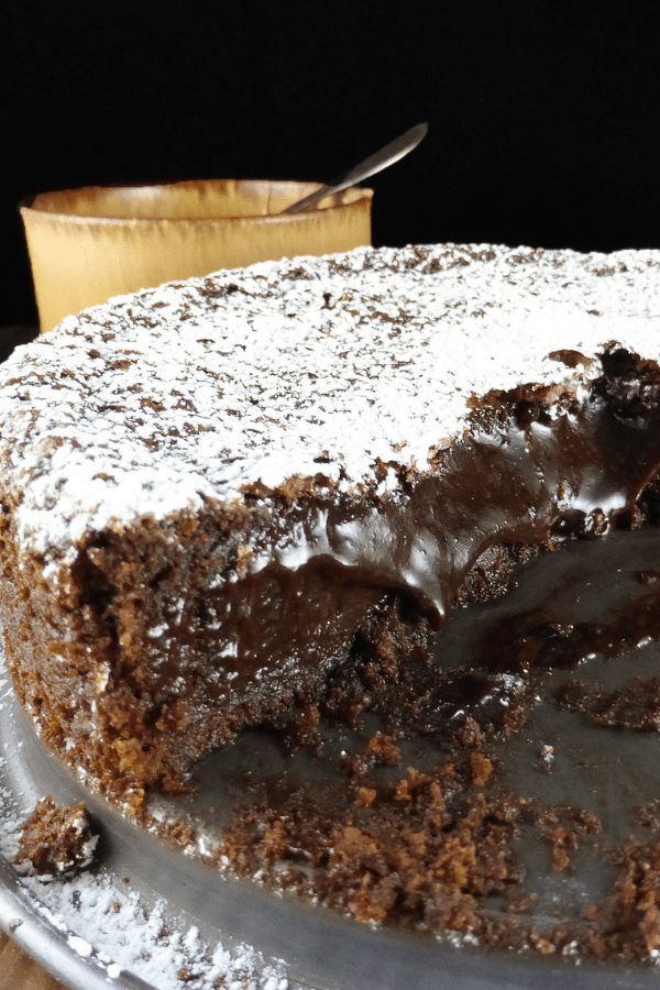 Swedish Nutella Spelt Kladdkaka (with Nutella Cream)