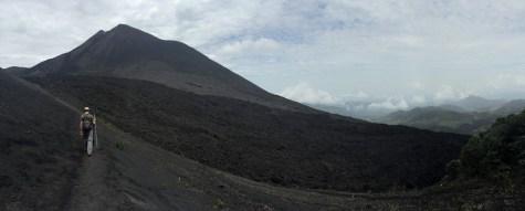 Walking the barren lava flow, Volcan Pacaya, Guatemala