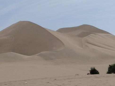 Towering sand dunes
