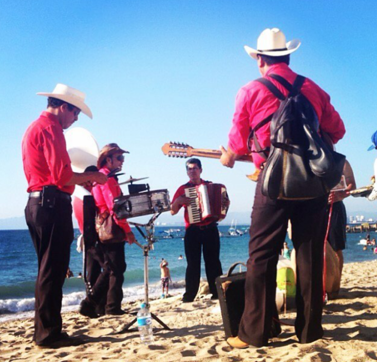 Mariachis on the beach