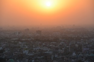 Jaipur from above at sunset
