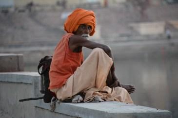 Sadhu by the ghats