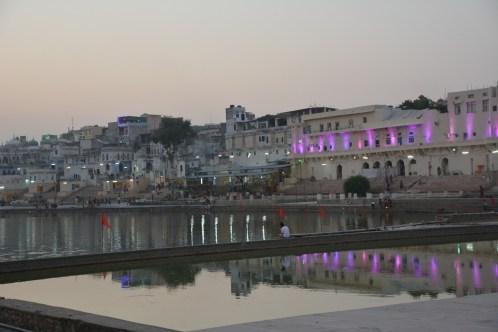 The ghats at dusk