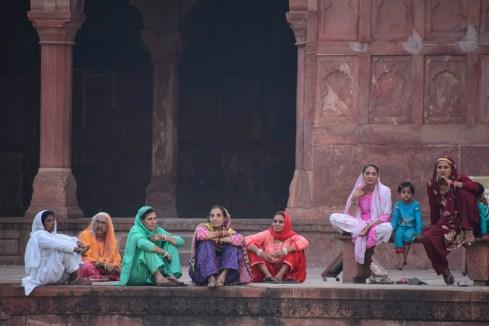 Ladies bringing colour to the visit