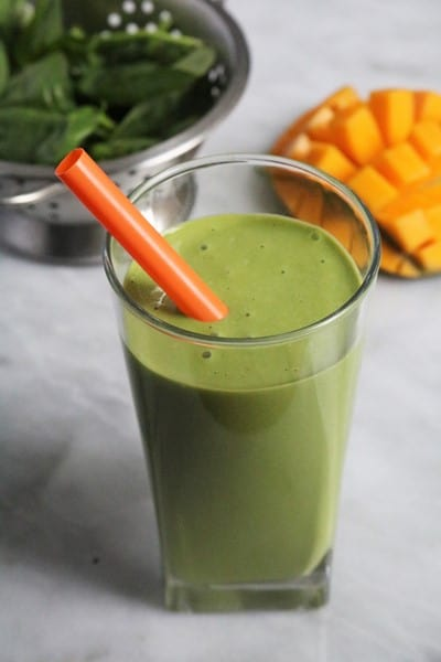Green Monster Spinach Smoothie #spinach #smoothie