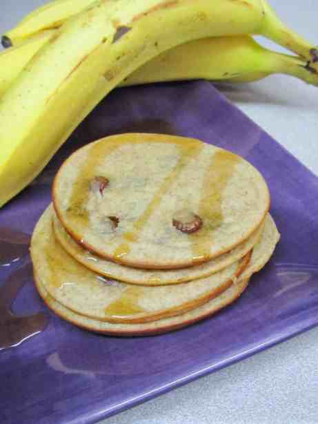Baked Peanut Butter Cup Banana Pancakes