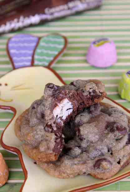 Peepsters Stuffed Chocolate Chip Cookies 2