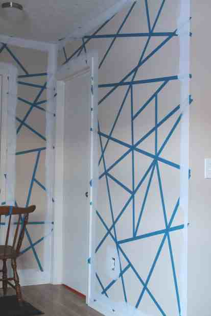 Diy Painter S Tape Accent Wall