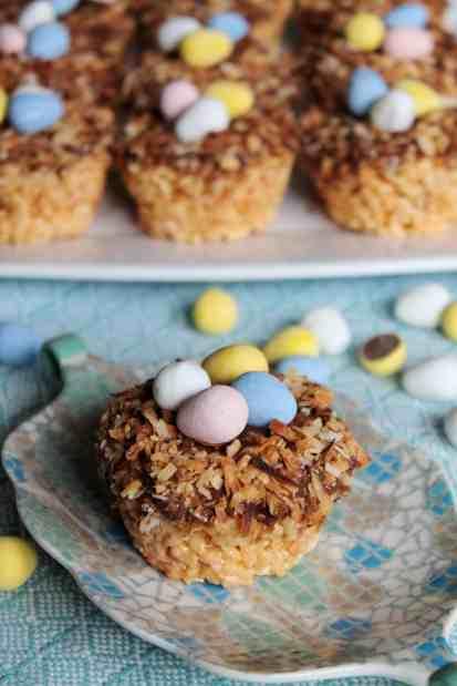 Toasted Coconut Bird's Nest Krispies Treats 1