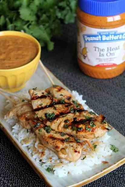Chicken Satay with Spicy Peanut Sauce & Coconut-Ginger Rice 1