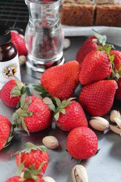 Strawberry Black Peppercorn Pistachio Cookie Bars 2