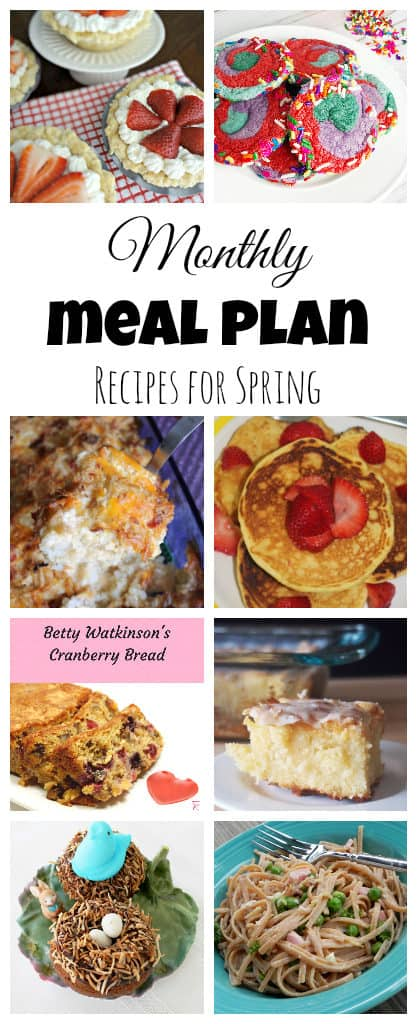 Monthly Meal Plan: April | The Spiffy Cookie