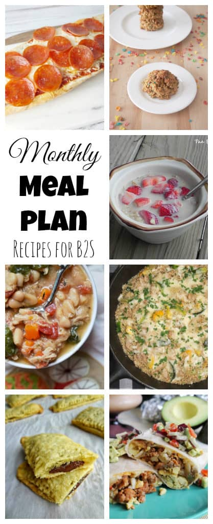 The Cooking Actress: Monthly Meal Plan-August (Back to School)