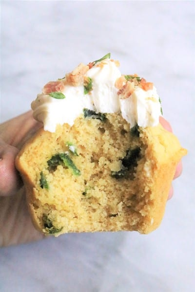 Gluten-Free Poblano Cornbread Muffins Inside