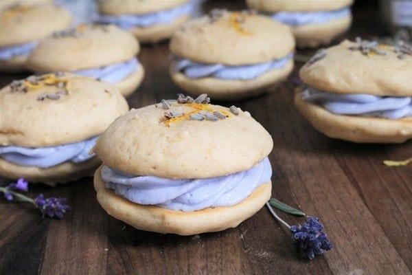 Lemon Lavender Whoopie Pies #lemon #lavender