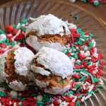 Christmas Confetti Amaretti Cookies #thespiffycookie