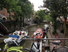 A branch of the river Rijn runs through Utrecht, and is still used for boating.