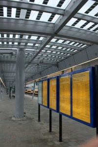 The roofs of the new platforms are all equipped with solar panels