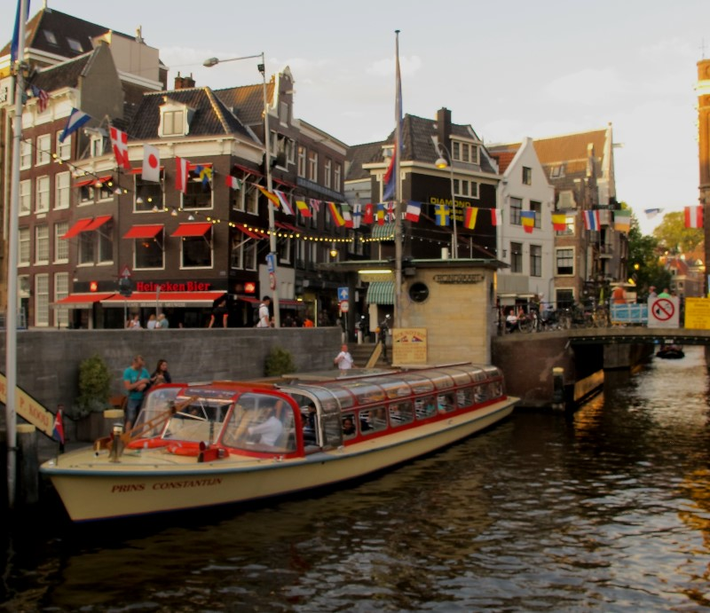 We enjoy a boat tour through the canals