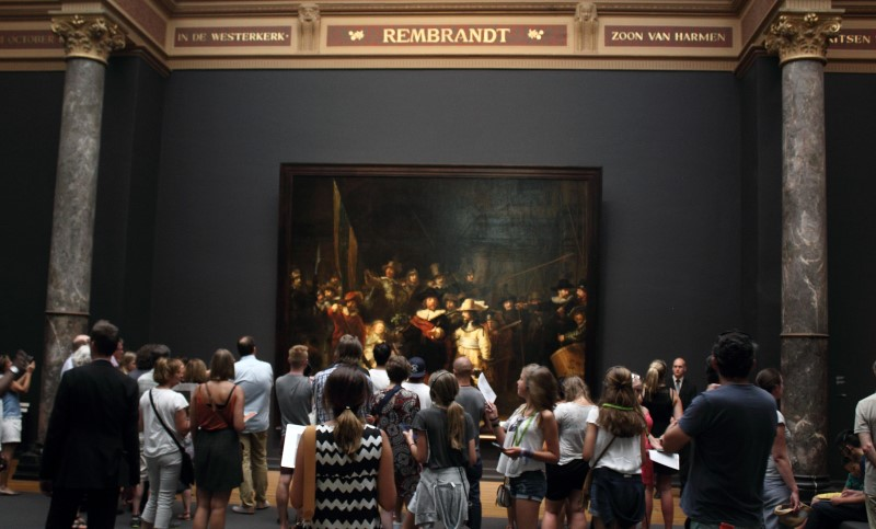 Rembrandt's most famous work: night watch