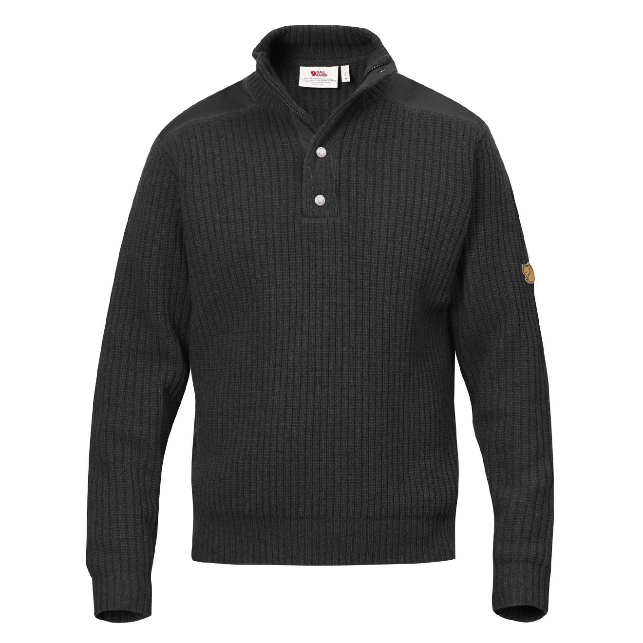 Fjallraven Varmland T-Neck Sweater Dark Grey