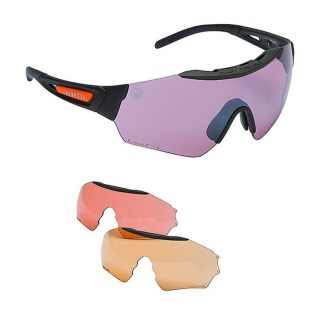 Beretta Puull Shooting Safety Glasses with 3 Lenses OC21