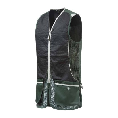 Beretta GT031 Silver Pigeon Shooting Vest In Green and Black Size Large