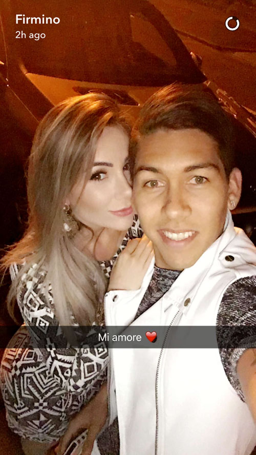Photo Roberto Firmino Parties With Philippe Coutinho