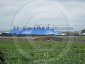 Radio 1 Big Weekend tents at Carlisle Aiport