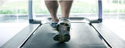 Walking on treadmill home page