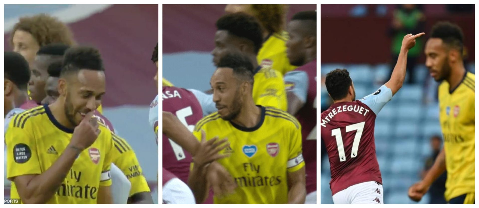 Smile that kills: Aubameyang seen laughing with Mings before conceding goal - THE SPORTS ROOM