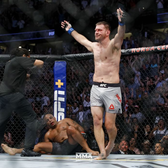 Stipe Miocic beat Cormier in their last two meetings.