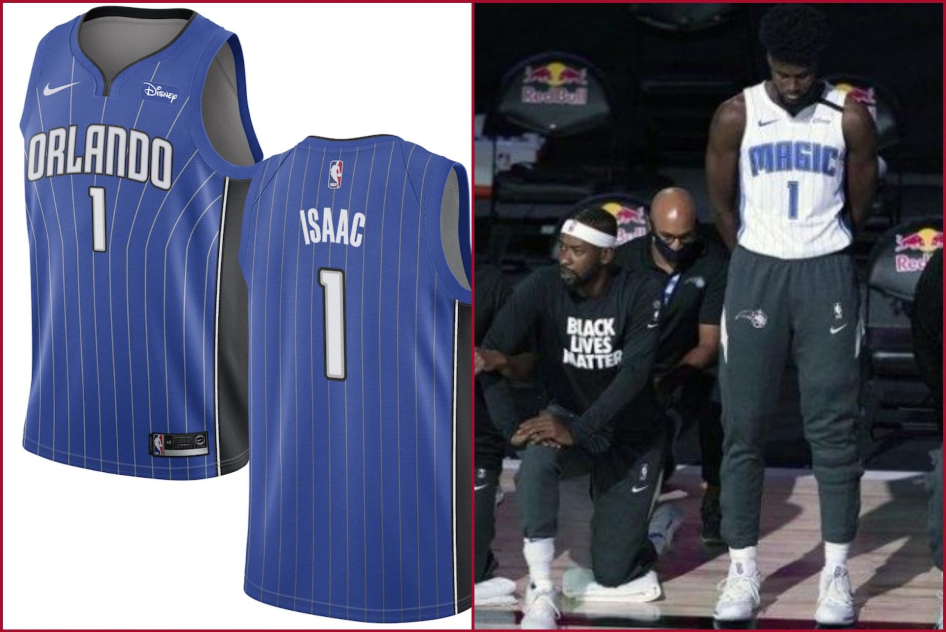 Jonathan Isaac jersey sales skyrocket after refusing to kneel for Black Lives Matter movement - THE SPORTS ROOM