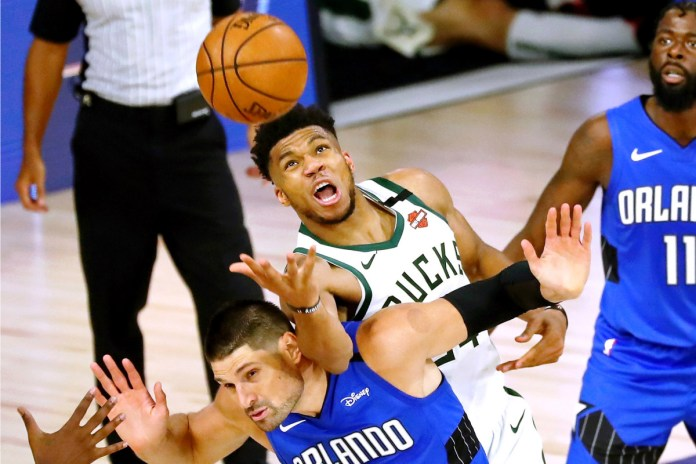 Giannis Antetokounmpo has led the Bucks to the best defensive rating in the league.