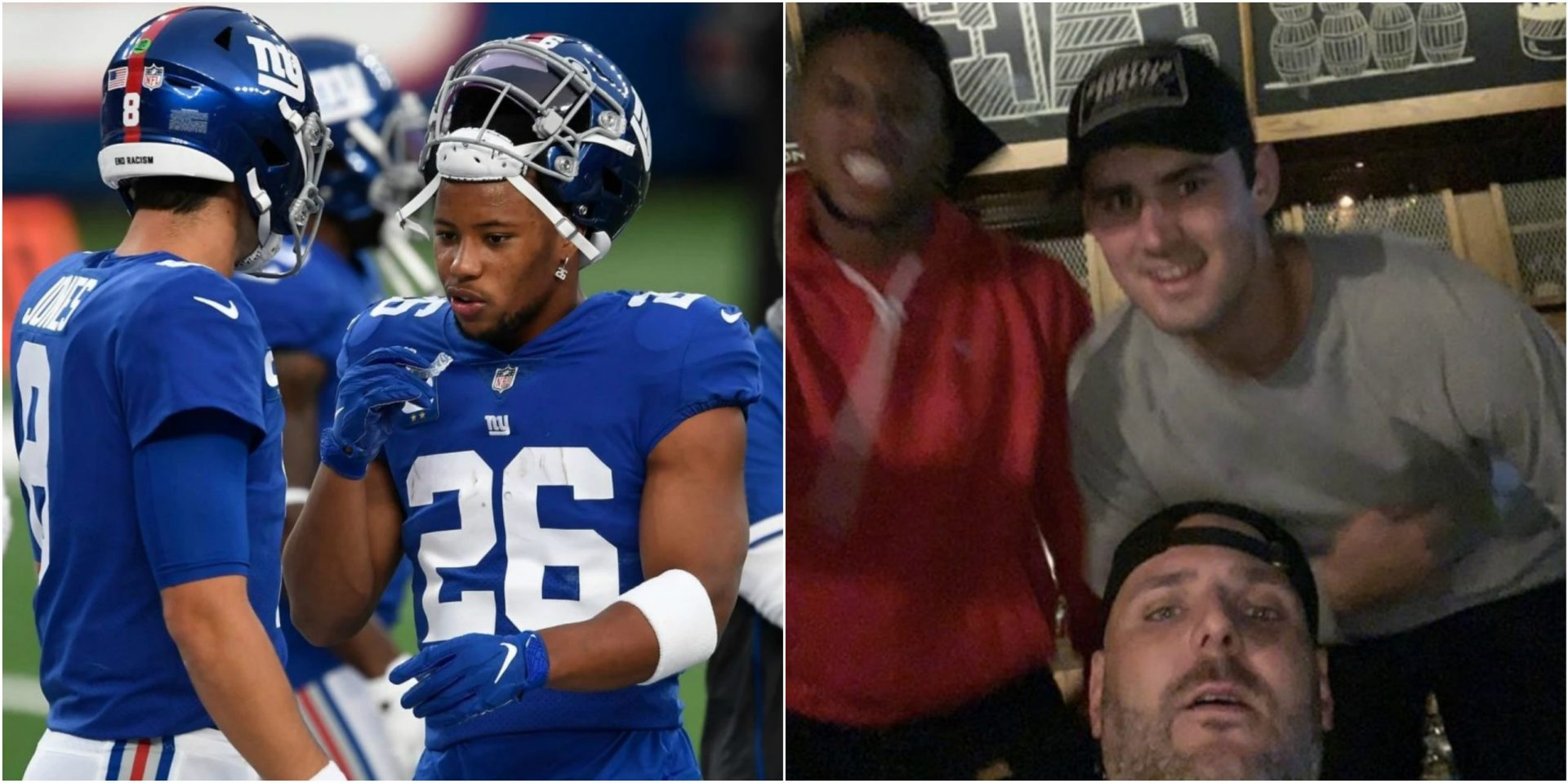 Photos and Videos surface of 2 New York Giants players partying without masks - THE SPORTS ROOM