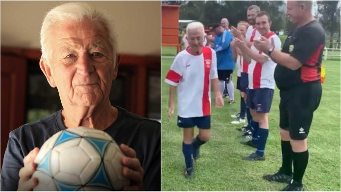 Meet Peter Webster, a footballer who decides to retire at the age of 80 - THE SPORTS ROOM