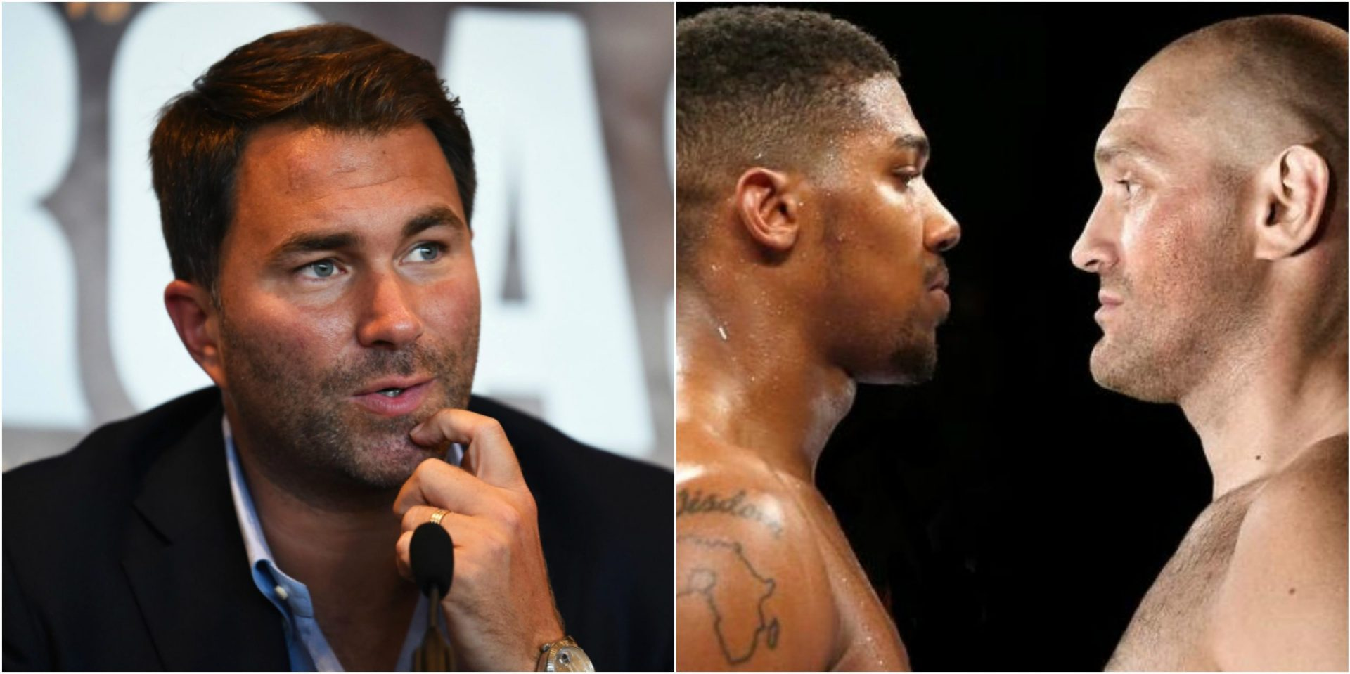 Eddie Hearn explains why Fury-Joshua may not happen in the UK - THE SPORTS ROOM