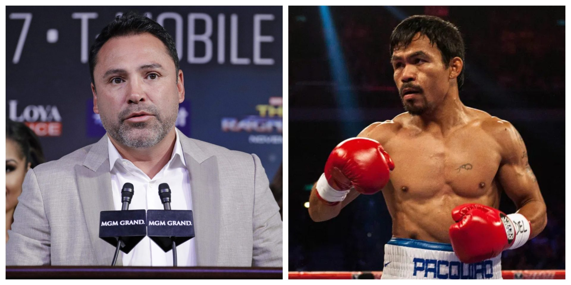 "Not Manny Pacquiao, Oscar De La Hoya has his eye ""on a bigger prize"" - THE SPORTS ROOM"