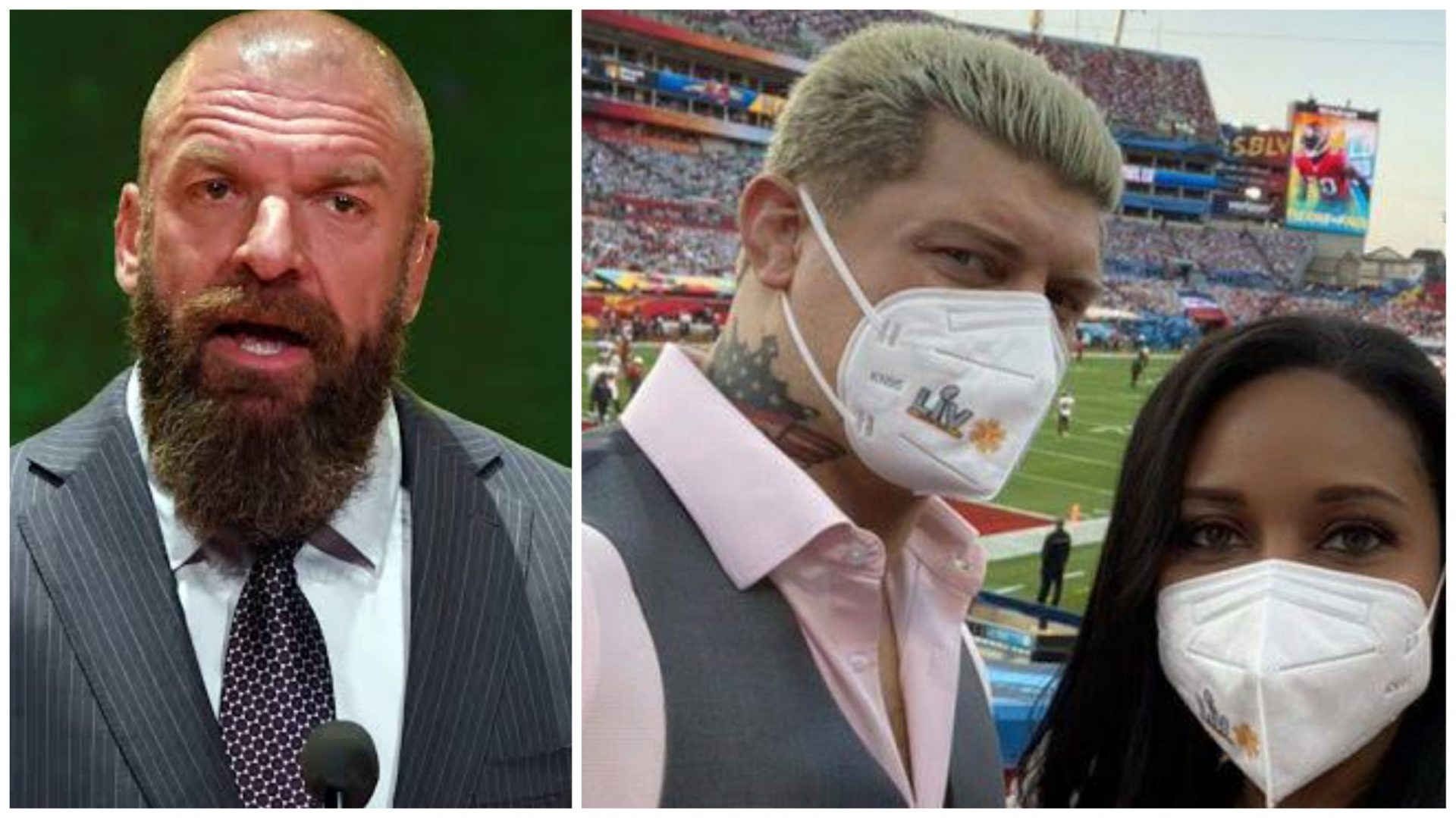 Triple H, Jericho, Cody and Brandi Rhodes amongst Wrestling personalities seen at Super Bowl - THE SPORTS ROOM